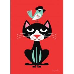 Kleine Poster Kat (Ingela P Arrhenius)